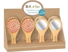 Belle & Boo Display: 4 Minibürsten & 4 Handspiegel