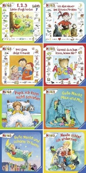 Ravensburger Minis-Paket -  Schlaf gut, mein Schatz + Mein liebstes Bilderlesebuch (8 Hefte)