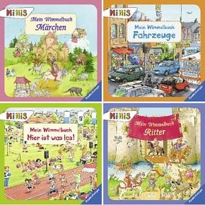 Ravensburger Minis Buchpaket  - Wimmelbuch (4 Hefte)