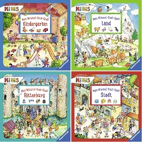 Ravensburger Minis Buchpaket  - Wimmel-Such-Spaß (4 Hefte)