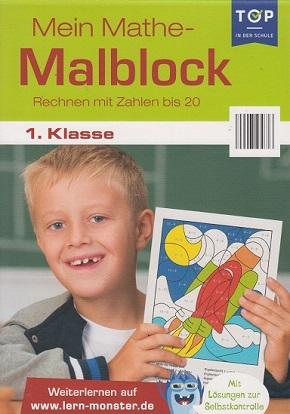 Mein Mathe-Malblock 1. Klasse - Rechnen mit Zahlen bis 20 - Lernblock