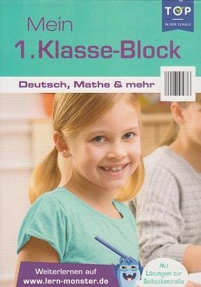 Mein 1.Klasse-Block - Deutsch, Mathe & mehr - Lernblock