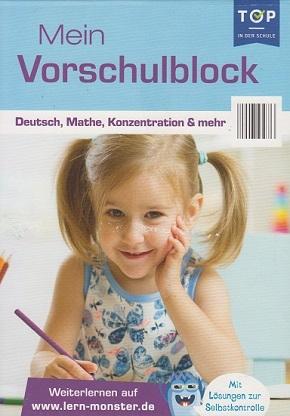 Mein Vorschulblock - Deutsch. Mathe, Konzentration & mehr - Lernblock