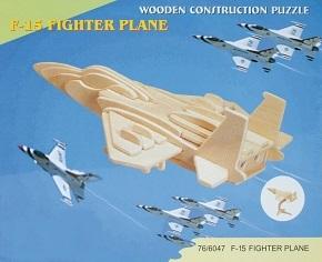 3D Puzzle Holzbausatz - Flugzeug F-15