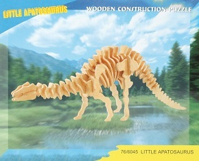 3D Puzzle Holzbausatz - Dinosaurier Skelett, Apatosaurus