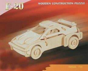3D Puzzle Holzbausatz - Auto, F-20