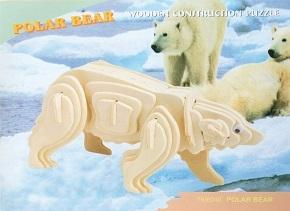 3D Puzzle Holzbausatz - Eisbär