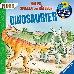 Ravensburger Minis - Malen, Spielen und Rätseln: Dinosaurier - Wieso? Weshalb? Warum?