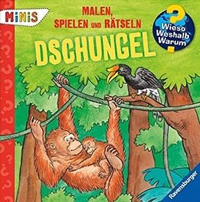 Ravensburger Minis - Malen, Spielen und Rätseln: Dschungel - Wieso? Weshalb? Warum?