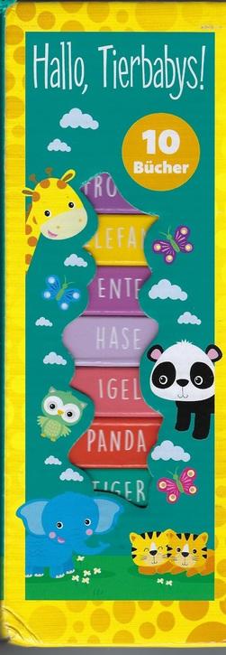 Hallo Tierbabys - 10 Bücher im Turm mit Schlaufe