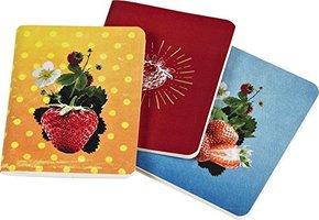 Erdbeerträume - Mini-Notizbücher (3 Stück im Set)