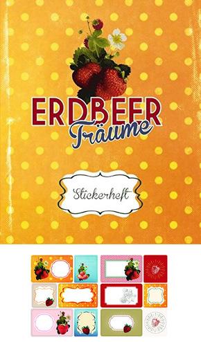 Erdbeerträume - Stickerheft