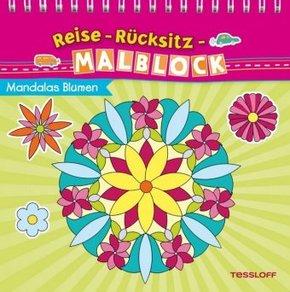 Reise-Rücksitz-Malblock - Mandalas Blumen