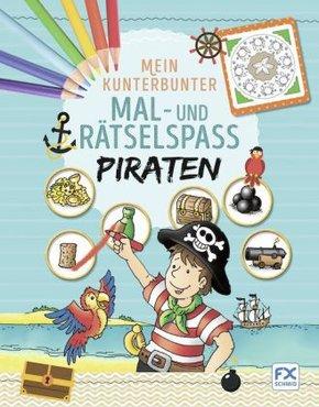 Mein kunterbunter Mal- und Rätselspaß - Piraten