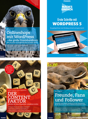 Webdesign Paket - Content, Social Media, Wordpress (4 Bücher)