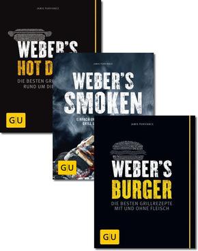 Weber Grillen Buchpaket - Smoken, Hot Dogs, Burger (3 Bücher)