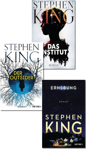 Stephen King Bestseller-Paket - Das Institut, Der Outsider, Erhebung (3 Bücher)