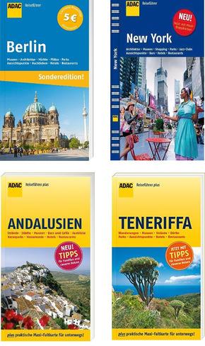ADAC Reiseführer-Paket - Berlin, New York, Andalusien, Teneriffa (4 Bücher)