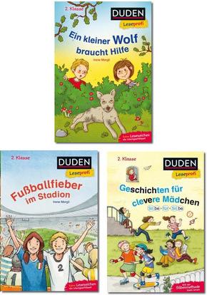 DUDEN Leseprofi 2. Klasse - Buchpaket für Kinder (3 Bücher)