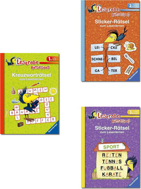 Leserabe Paket - 1. , 2. und 3. Lesestufe (6 Hefte)