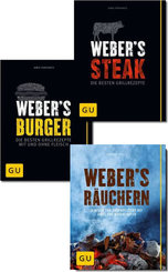 Webers Grillen - Buchpaket: Burger, Steak, Hot & Spicy (3 Bücher)