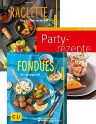 Party, Fondues, Raclette-Rezepte - GU Küchenratgeber-Paket (3 Kochbücher)