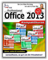 Office 2013 Professional - 6 Video-Trainings im Paket (DOWNLOAD)