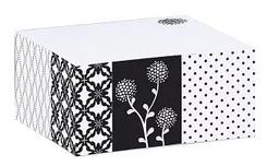 Klebezettel Block - Sticky Note Block Black & white (6 Blöcke)
