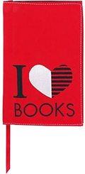 Buchumschlag - I Love Books -  Schutzumschlag für Taschenbücher - Größe S