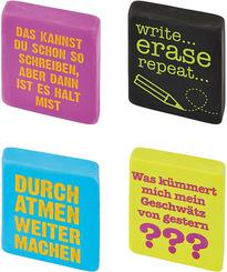 Radierer - Home Office Freche Sprüche (20 Stück)