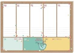 Happy Me - Wochenplaner, Wochenkalender für den Schreibtisch