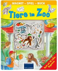 Tiere im Zoo - Magnet-Spiel-Buch