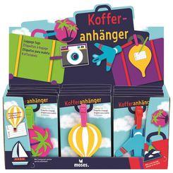 Kofferanhänger für Kinder - 18 Stück im Display