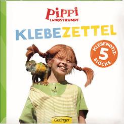 Pippi Langstrumpf - Klebezettel (5 Klebenotizblöcke)