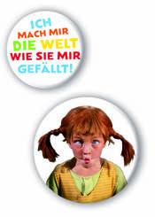 Pippi Langstrumpf - Buttons (2 Stück)