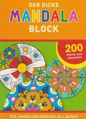 Der dicke Mandala Block - Für Jungen und Mädchen ab 4 Jahren