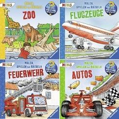 Ravensburger Wieso? Weshalb? Warum? Minis-Paket  - Malen, Spielen, Rätseln (4 Hefte)