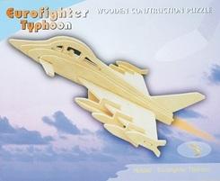 3D Puzzle Holzbausatz - Flugzeug Eurofighter Typhoon
