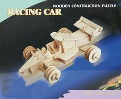 3D Puzzle Holzbausatz - Rennauto