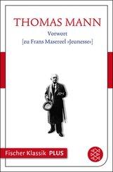 Vorwort [zu Frans Masereel »Jeunesse«] (eBook, ePUB)