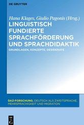 Linguistisch fundierte Sprachförderung und Sprachdidaktik (eBook, ePUB)
