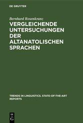 Vergleichende Untersuchungen der altanatolischen Sprachen (eBook, PDF)