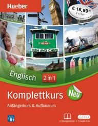 Englisch Komplettkurs 2 in 1 - Für Anfänger & Fortgeschrittene