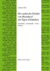Der arabische Dialekt von Hasankeyf am Tigris (Osttürkei) (eBook, PDF)
