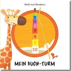 Mein Buchturm - Buch und Bausteine / Stapelwürfel Stapelturm