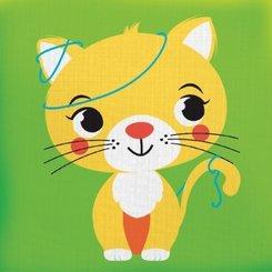 Drück mich! - Katze, Stoffbilderbuch