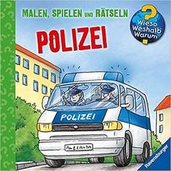 Ravensburger Minis - Malen, Spielen und Rätseln: Polizei - Wieso? Weshalb? Warum?