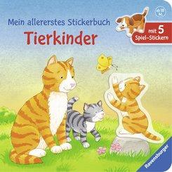 Mein allererstes Stickerbuch: Tierkinder