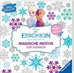 Disney kreativ: Die Eiskönigin - Magische Motive zum Ausmalen, Mit Stickern zum Dekorieren