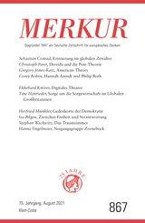 MERKUR Gegründet 1947 als Deutsche Zeitschrift für europäisches Denken - 2021-08 (eBook, ePUB)
